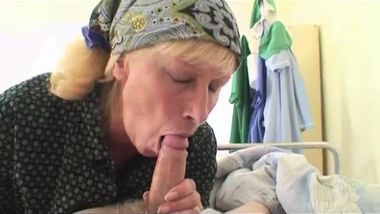 Grandpa fucks nurse while grandma masturbates