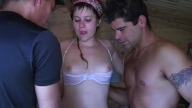 STP French Girlfriend Spied Fucking And Taken For Gangbang !