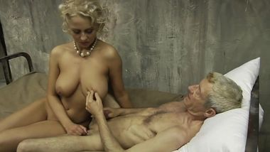 Old Army Man Fucking Young Blonde