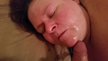 Sexy Mature Deepthroating My Cock