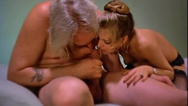Seventies French Porn - Old Man gets help to suck his own big dick