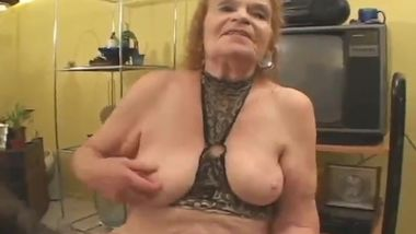 Beautiful bbw granny gets young cock.