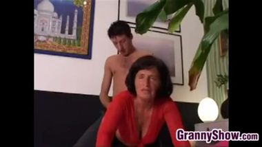 italian granny Lory gets pounded by a young guy.