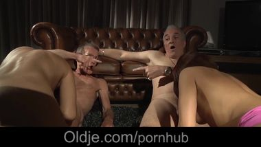 The old men mansion of hardcore blowjob cumshots fuck two young babes