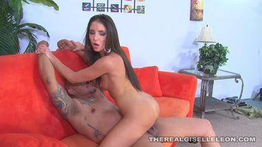 Giselle Leon get distoryed by old mans BBC and gets mouthful of his load