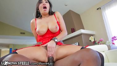 Lexington Steele Give HUGE Cock to Karlee Grey