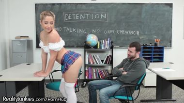 Slutty Teen Schoolgirl Horny in Detention