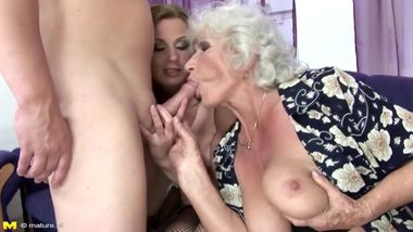 Mom and Granny fucked and pissimg on