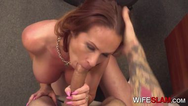 Naughty Cheating Boss Bangs Her Younger Employee