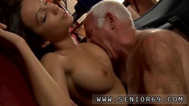 Asian old man bus first time At that moment Silvie enters the room to