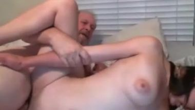 Old guy and girl on webcam