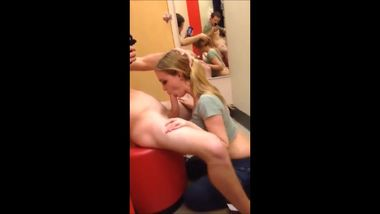 20yr old blowjob in a Target dressing room