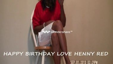 Henny Red Sings Happy Birthday Mr.Chairman At Hoodboxoffice.