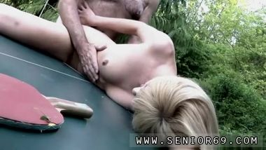 Teen old outdoor couple But alas, the lady is hopeless at the game -