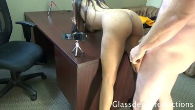 Leah Rose , spinner creampie , casting Couch