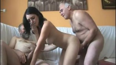 five old man fuck girl